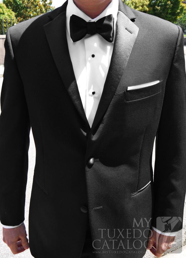 Black Slim Fit 'Parker' Tuxedo Coat by Ike Behar