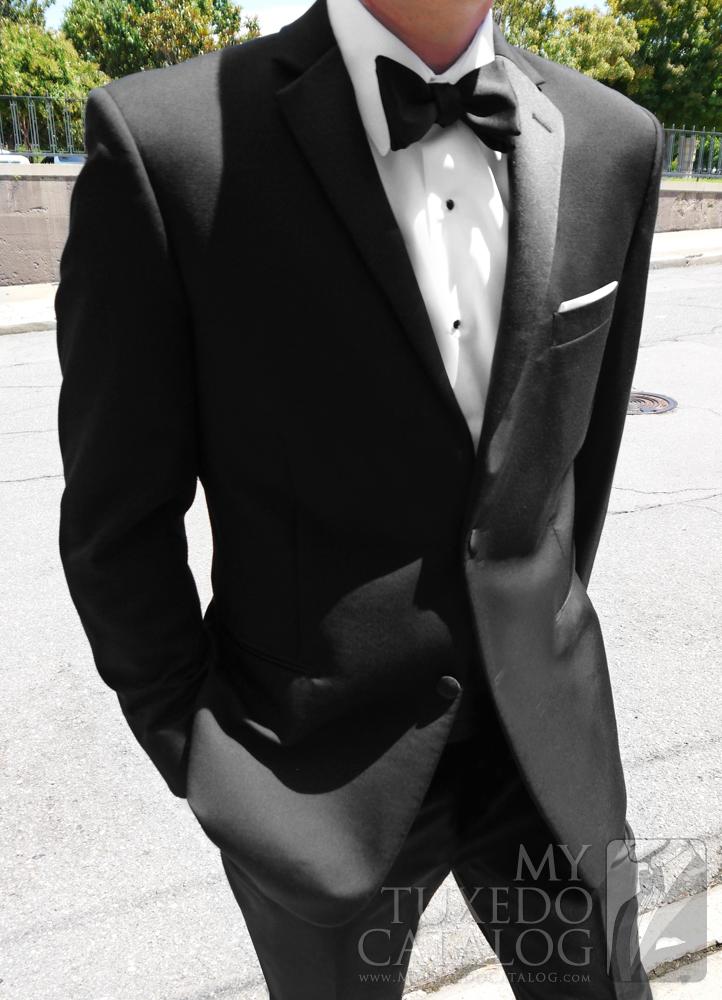 Black Slim Fit 'Parker' Tuxedo by Ike Behar