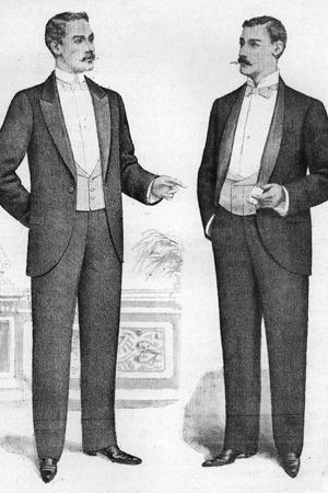 Shawl and Peak Lapel Tuxedos, circa 1898