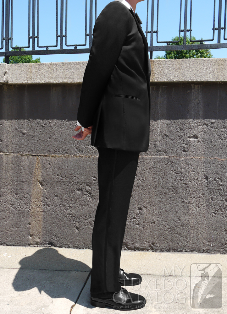 Black Slim Fit 'Jackson' Tuxedo Side View
