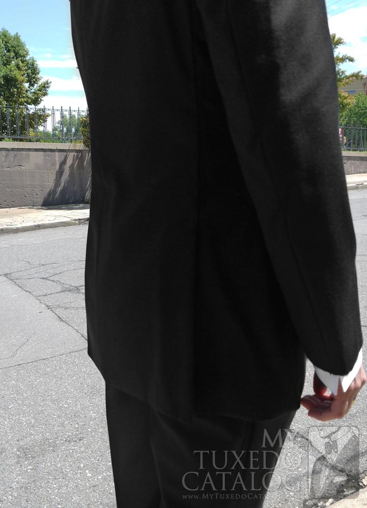 Black Slim Fit 'Jackson' Side Vents