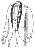 Dress Lounge Coat, Circa 1888