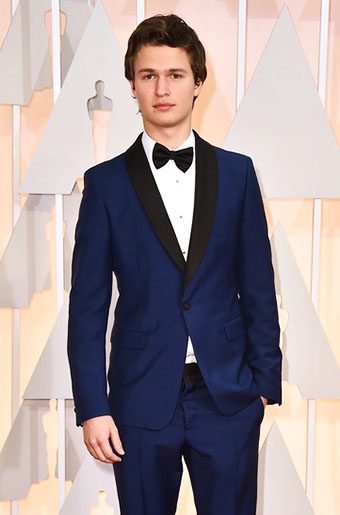 Ansel Elgort in Navy Blue at the 2015 Oscars!