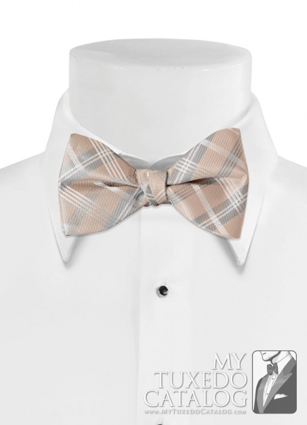 Biscotti 'Solid Plaid' Bow Tie