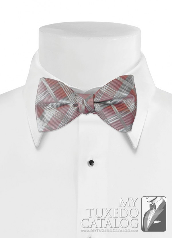 Quartz 'Solid Plaid' Bow Tie