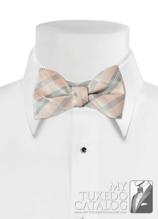 Petal 'Solid Plaid' Bow Tie