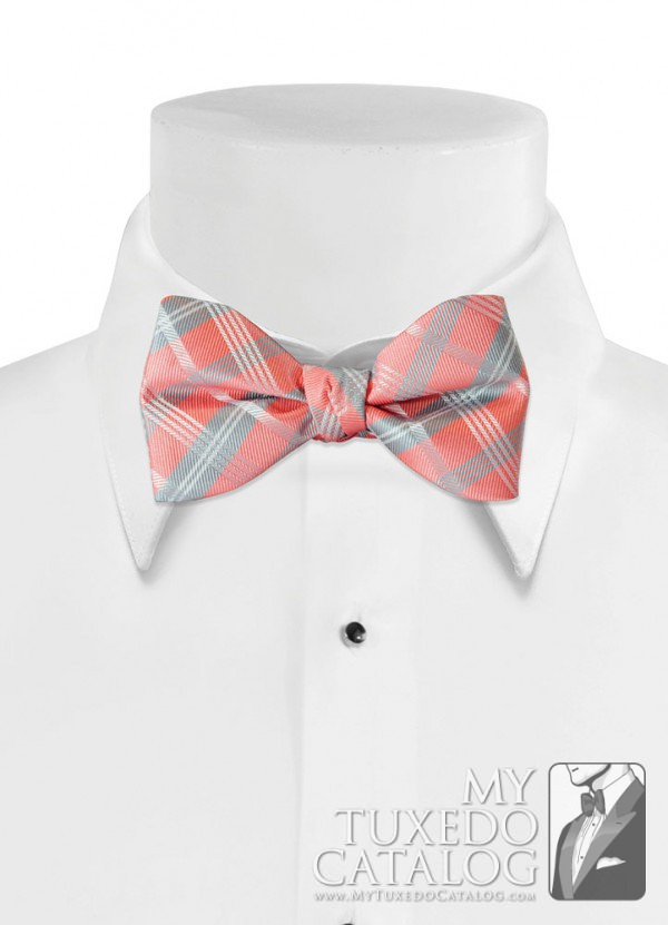Coral Reef 'Solid Plaid' Bow Tie