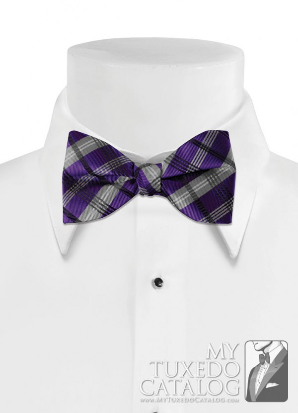 Regency 'Solid Plaid' Bow Tie