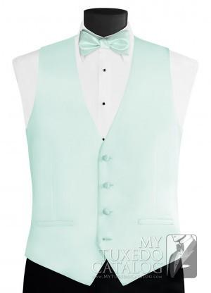 588e4e966dd Larr Brio. Light Mint 'Modern Solid' Vest