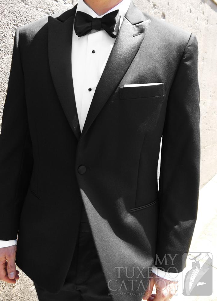 Black Slim Fit 'Jackson' tuxedo by Ike Behar