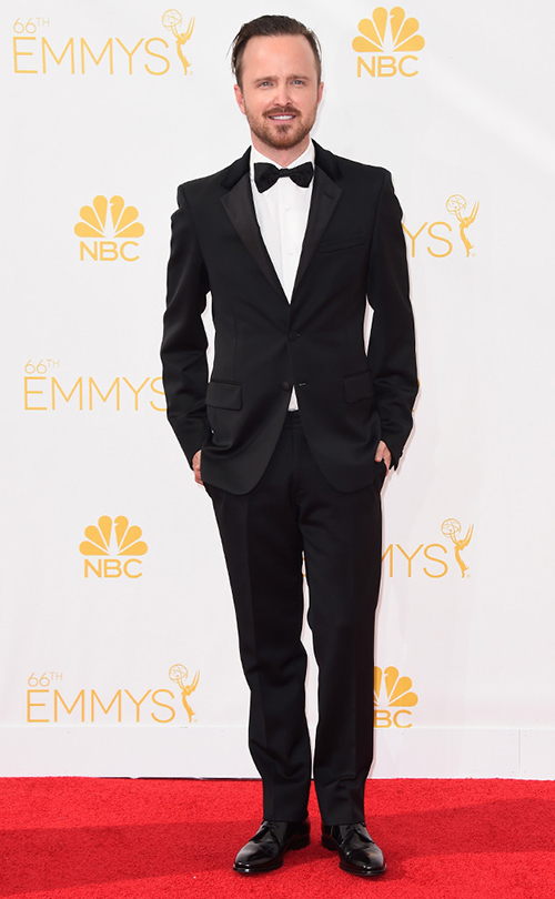 Aaron Paul in Black Tie at the 2014 Emmy Awards