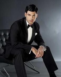 Dapper Man in Black Tie
