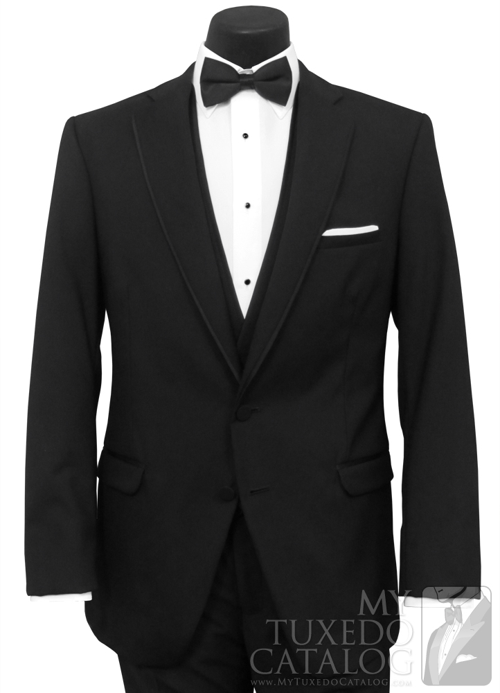 Black 'Allure Men' Tuxedo - Front View