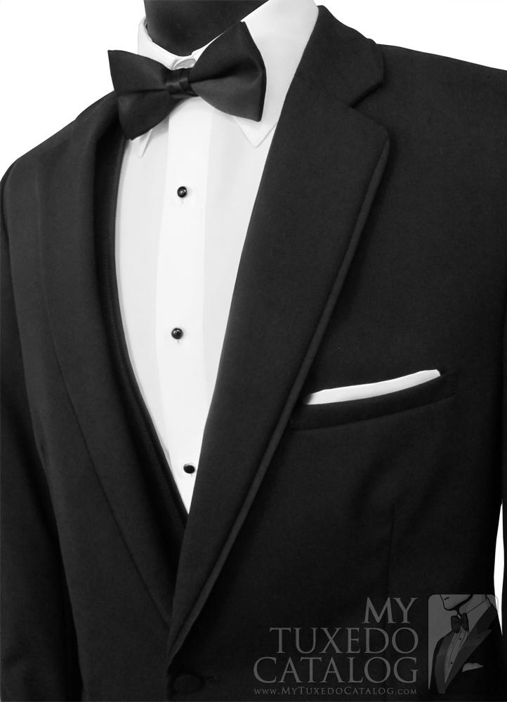 Black 'Allure Men' Tuxedo - Satin Trim Notch Lapels