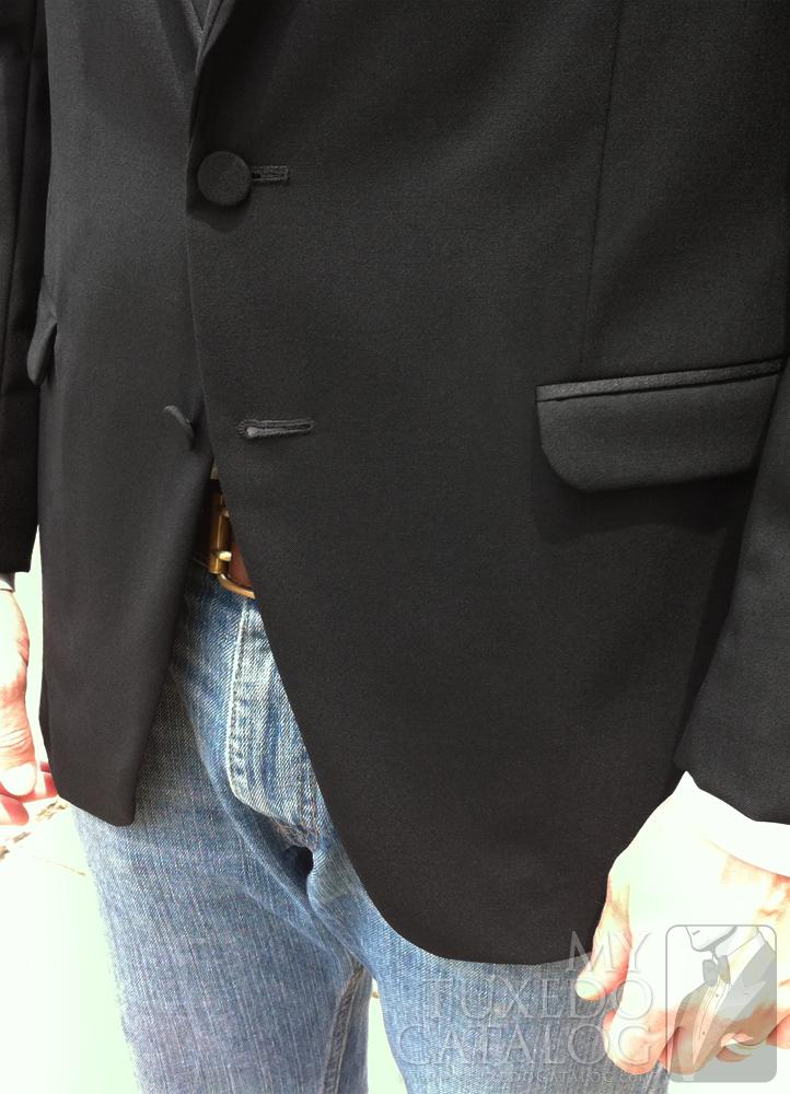 Black 'Allure Men' Tuxedo - Satin Trim Flap Pockets
