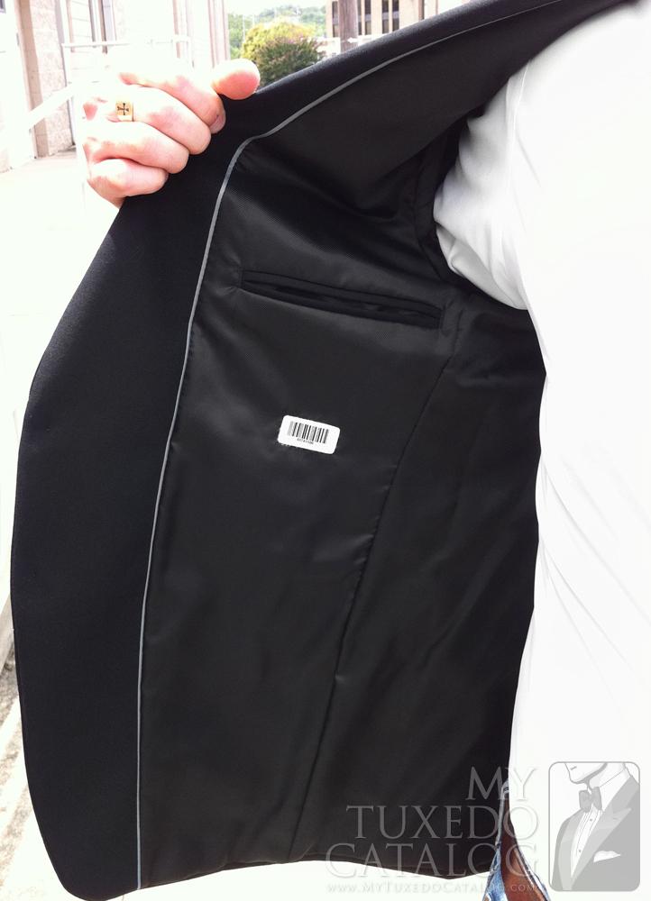Black 'Allure Men' Tuxedo - Right Inside Lining