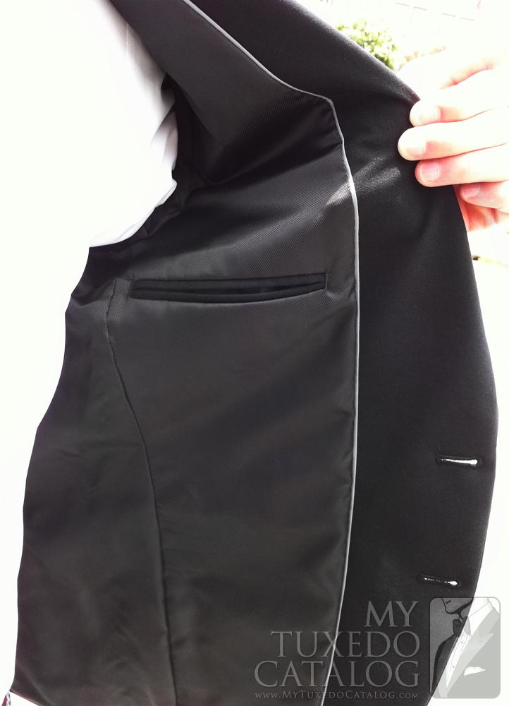 Black 'Allure Men' Tuxedo - Left Inside Lining