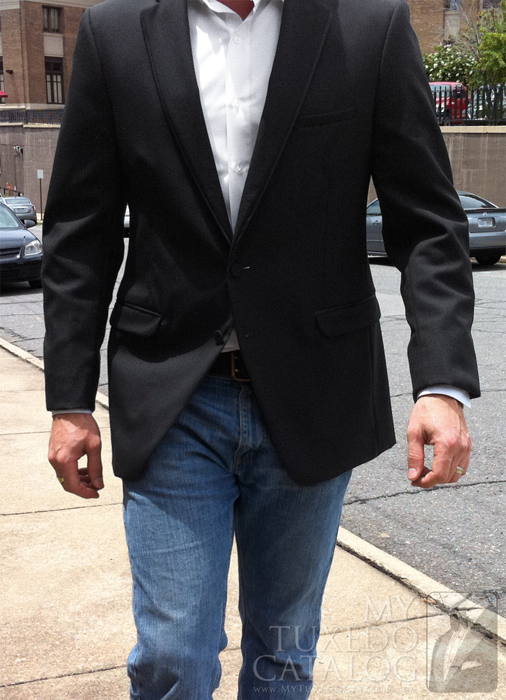 Black 'Allure Men' Tuxedo - Informal Front View