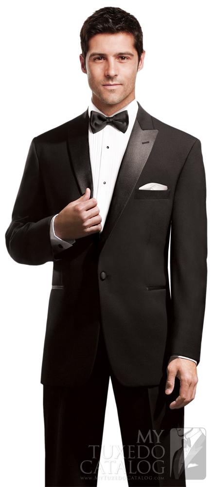 Example of Black Tie Attire: Black 'Icon' Tuxedo by PM