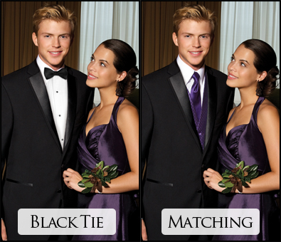 Black Tie or Matching Accessories?