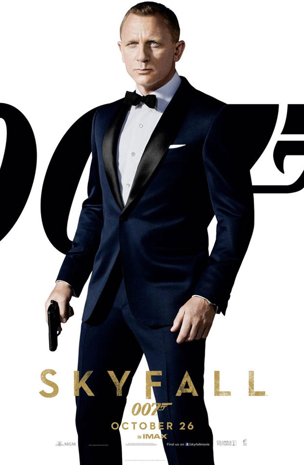 James Bond in a Midnight Blue Tom Ford Tuxedo for Skyfall