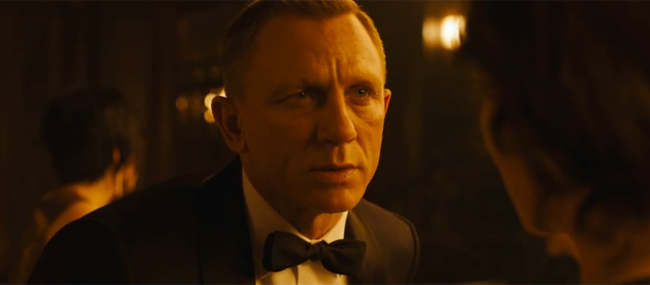 James Bond wearing Black Tie in Skyfall