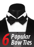 6 Popular Bow Tie Options - Infographic