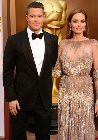 Brad Pitt in a Class Shawl Collar Tuxedo at the 2014 Oscars!