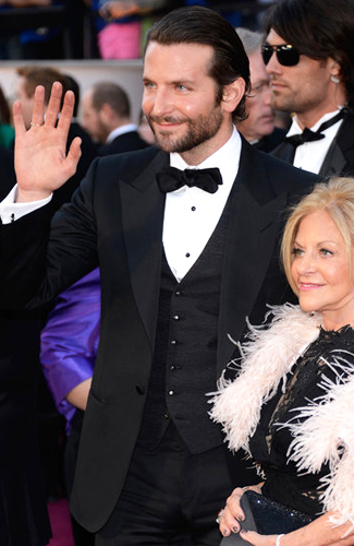 Bradley Cooper at the 2013 Oscars - Winner: Best Peak Lapels