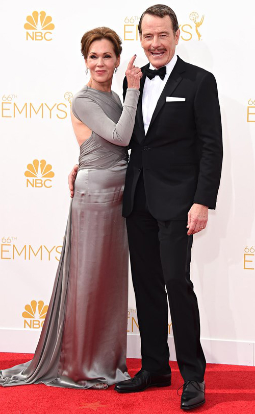 Bryan Cranston in Black Tie at the 2014 Emmy Awards