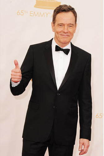 Bryan Cranston in a Modern 2-Button Notch Tuxedo