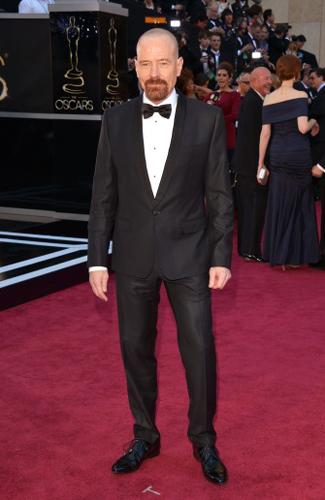 Bryan Cranston at the 2013 Oscars - Winner: Best Shawl Collar