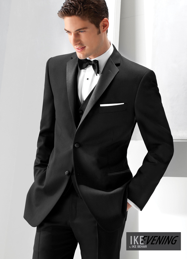 Black 'Parker' Slim Tuxedo by Ike Behar