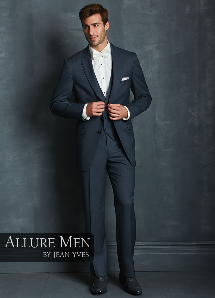 Slate Blue 'Allure Men' Tuxedo by Jean Yves