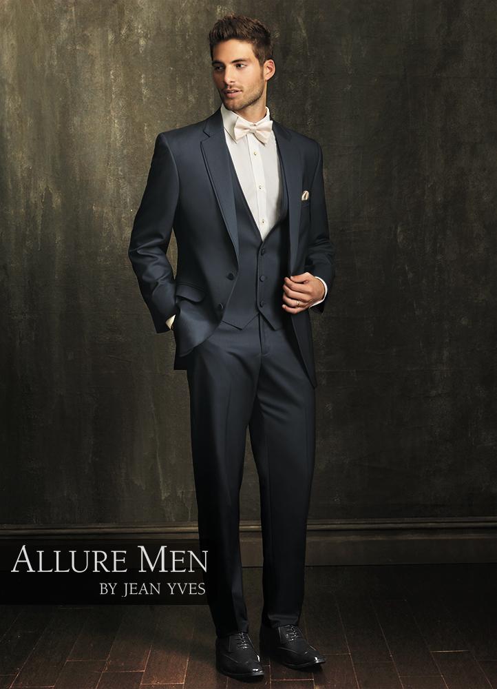 Allure Men Slate Blue 'Allure' Tuxedo