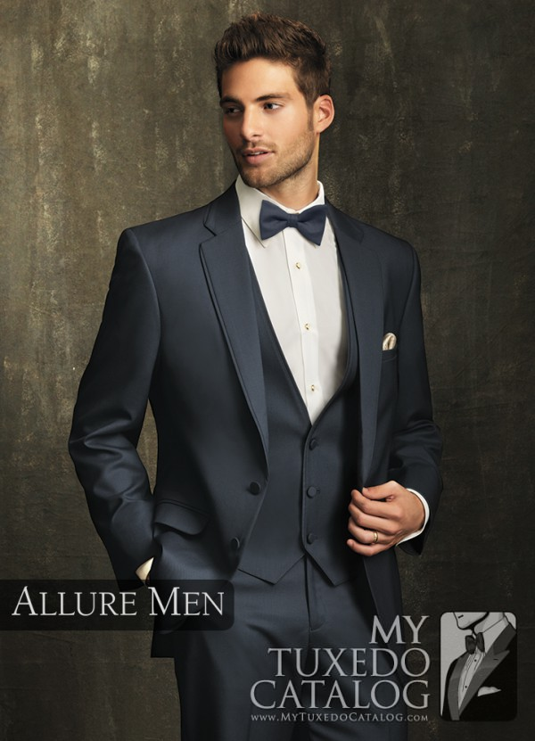 9.) Allure Men Slate Blue 'Bartlett' Tuxedo