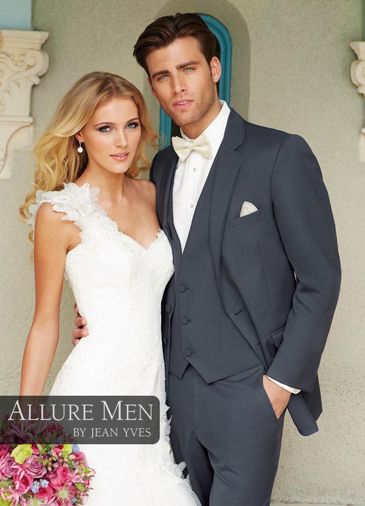 Slate Blue 'Allure' Tuxedo by Allure Men