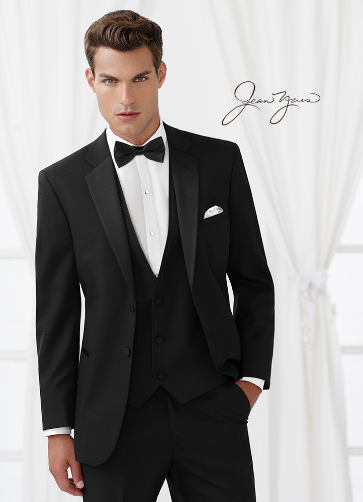 Black 'Essentials' Tuxedo by Jean Yves