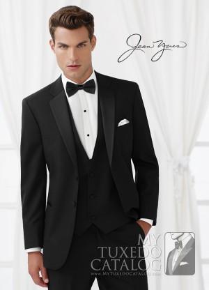 New Mens Black After Six Troy Tuxedo Jacket Satin Notch Lapels *Portly Sizes*