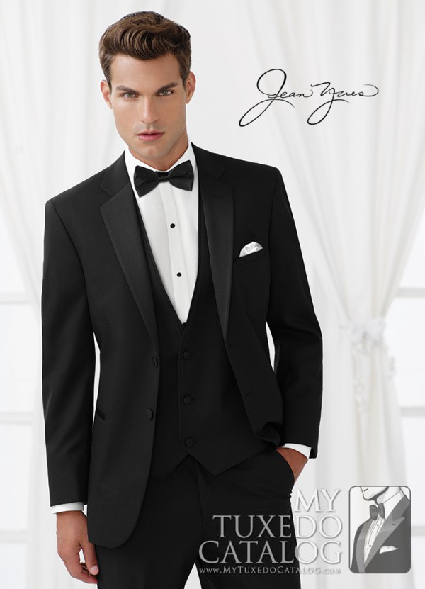 Wedding tuxedo trends for 2015 mytuxedocatalog jean yves black essential tuxedo junglespirit Image collections