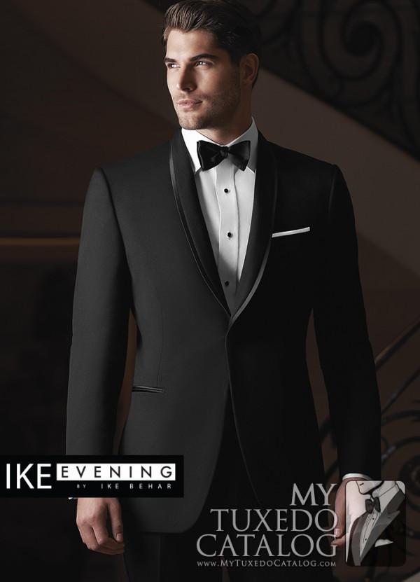 Wedding tuxedo trends for 2015 mytuxedocatalog ike behar black waverly tuxedo junglespirit Gallery