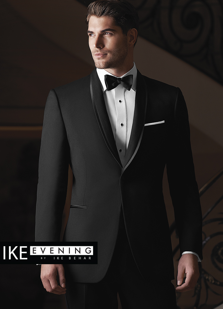 black waverly tuxedo by ike behar