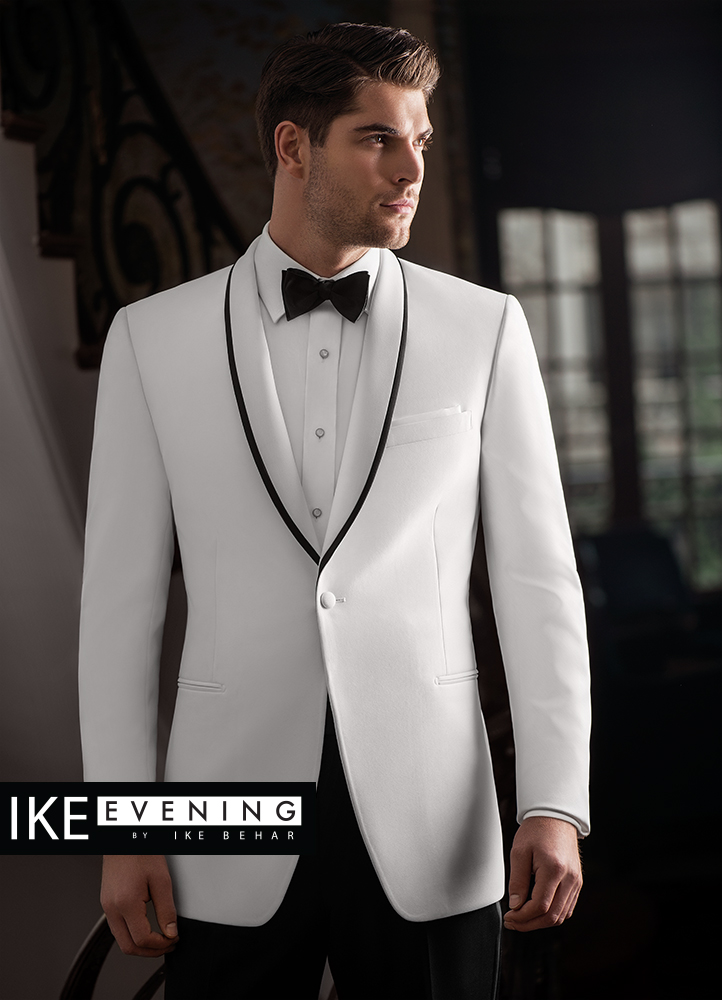 White 'Waverly' Tuxedo by Ike Behar