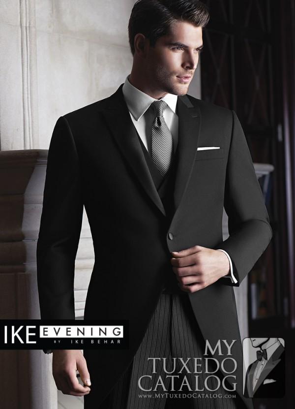 Wedding tuxedo trends for 2015 mytuxedocatalog ike behar black wyatt cutaway junglespirit Choice Image