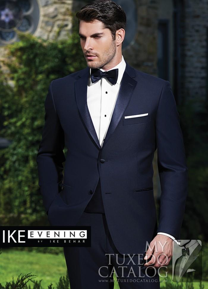 Navy 'Sebastian' Slim Fit Tuxedo by Ike Behar