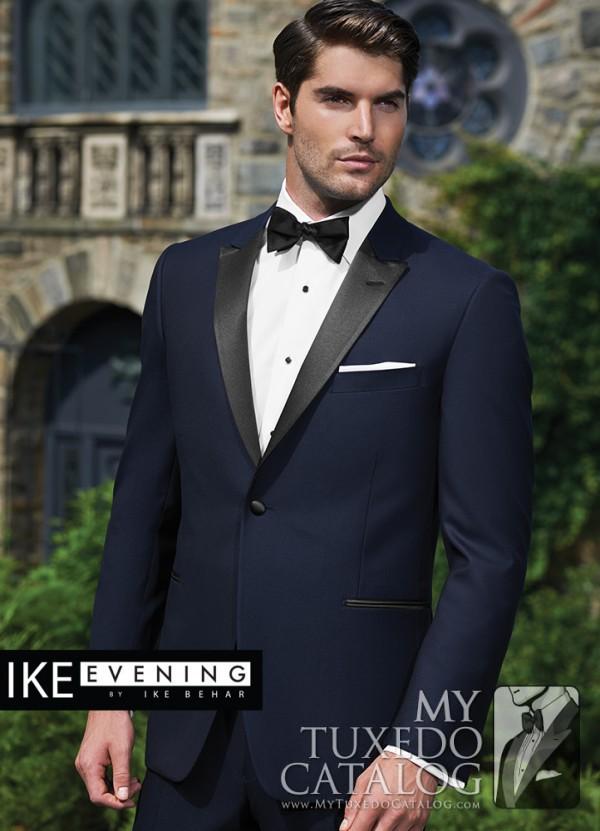 Wedding tuxedo trends for 2015 mytuxedocatalog ike behar navy blake tuxedo junglespirit Images