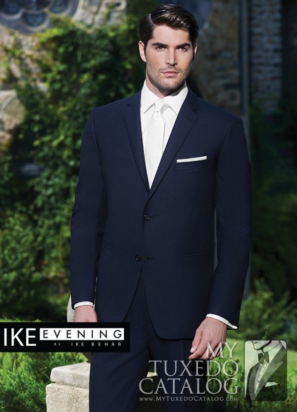 Navy 'Collin' Suit by Ike Behar Evening