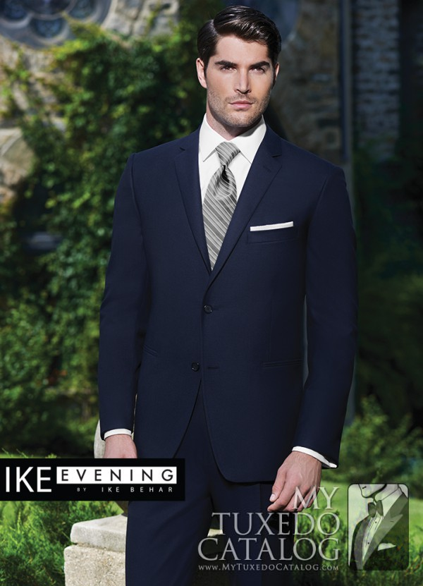 Navy 'Collin' Suit by Ike Behar