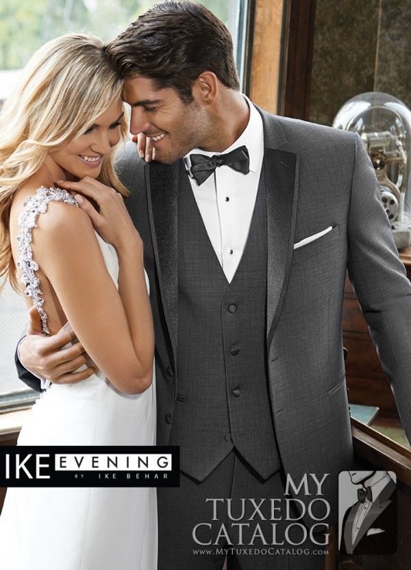 ike behar sharkskin grey grayson tuxedo