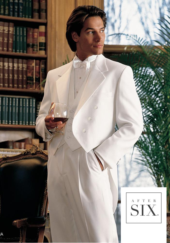 White 'Bari' Tailcoat